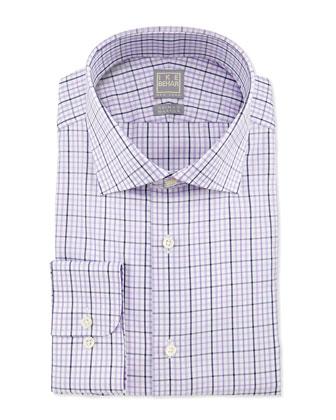 Check Woven Dress Shirt, Lavender