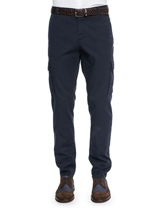Slim Cargo Pants, Navy