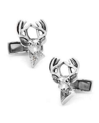 Sterling Silver Deer Cuff Links