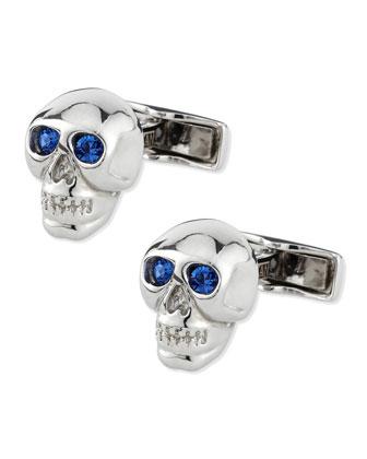 Sterling Silver Skull Cuff Links