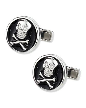 Skull-and-Crossbones Cuff Links