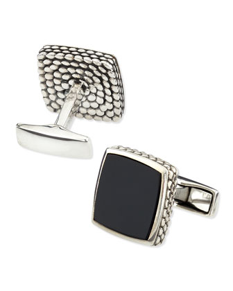 Scaled Onyx Cufflinks