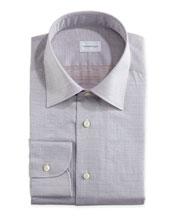 Tonal Textured Oxford Shirt, Gray