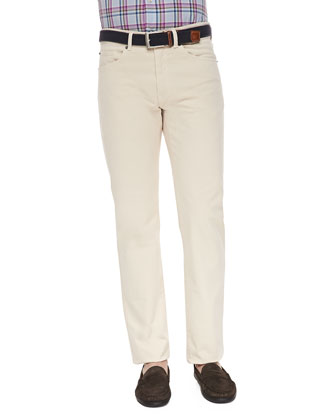 Stone Five-Pocket Pants, Sand