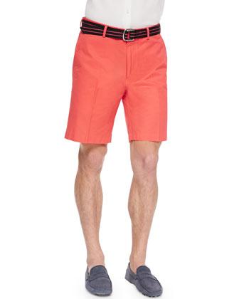 Cotton Grenadine Shorts, Pink