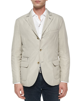Hybrid Lightweight Sport Jacket, Khaki