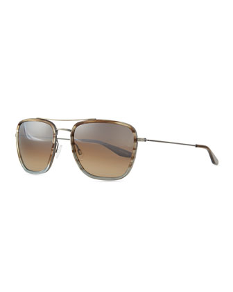 Collins Square Aviator Sunglasses, Light Blue