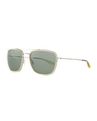 Collins Square Aviator Sunglasses, Clear