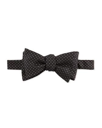 Glitter-Dot Silk Bow Tie