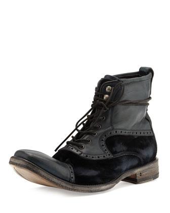 Fleetwood Leather & Velvet Boot
