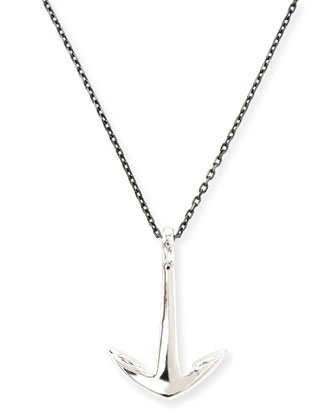 Anchor Pendant Necklace, Silver