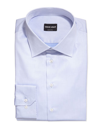 Basic Woven Dress Shirt, Light Blue