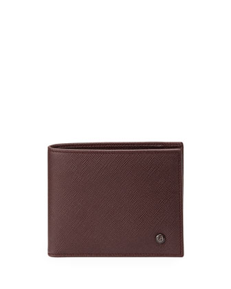 Saffiano Leather Wallet, Red