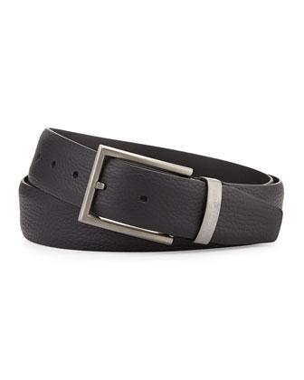 Grain Leather Belt, Black