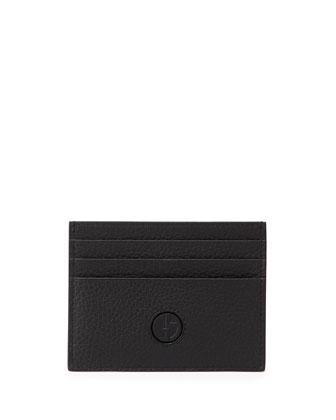Leather GA Card Case, Black
