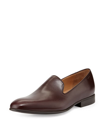 Lancel Slip-On Loafer, Oxblood