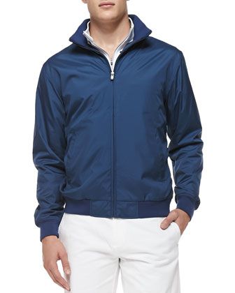Austin Zip-Front Jacket, Navy