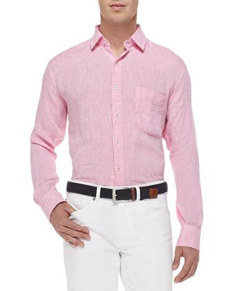 Solid Sport Shirt, Pink