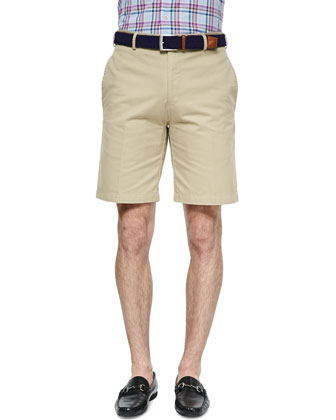 Button-Down Plaid Shirt & Raleigh Washed Twill Shorts