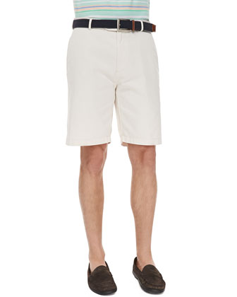 Stone Raleigh Washed Shorts, Khaki