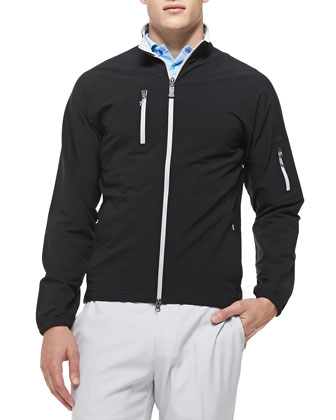 Barcelona Performance Zip Jacket, Black