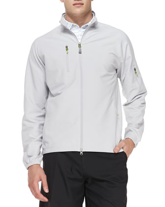 Barcelona Performance Zip Jacket, Gray