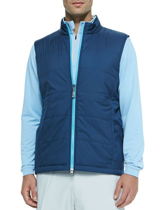 Midnight Lyon Puffer Vest, Blue