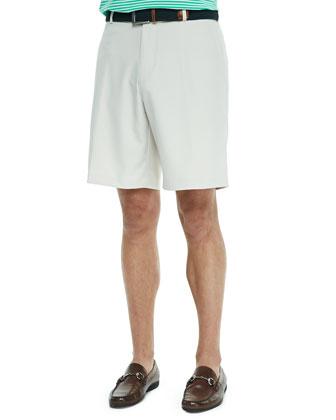 Salem High Drape Performance Shorts, Khaki