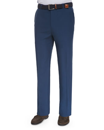 Durham High-Drape Performance Pants, Navy