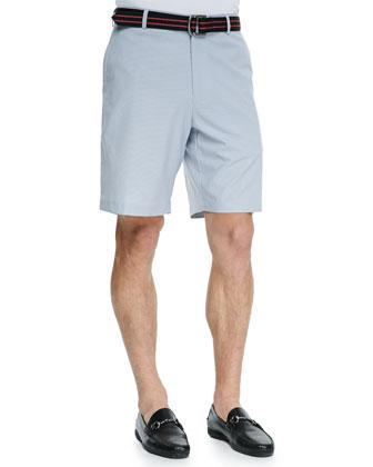 Woven Pincord Shorts, Navy
