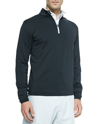 Perth Quarter-Zip Sweater, Black