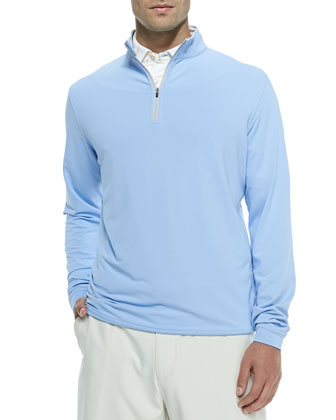 Perth Quarter-Zip Pullover Sweater, Blue