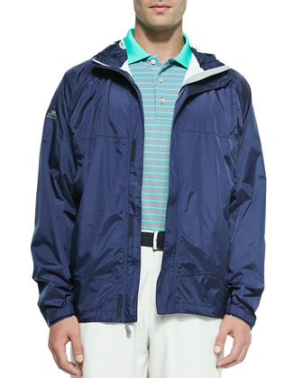 Owen 2.5-Layer Hooded Rain Jacket, Navy
