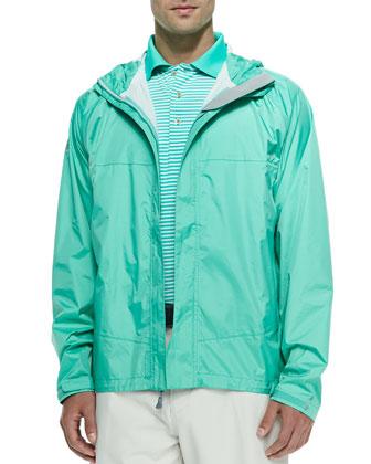Owen 2.5-Layer Hooded Rain Jacket, Green