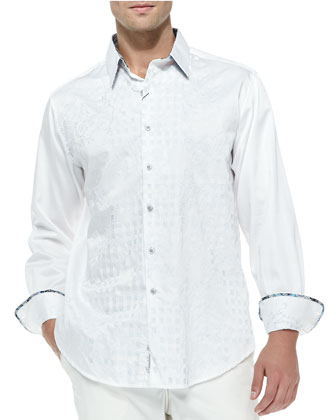Aloha Long-Sleeve Sport Shirt, White