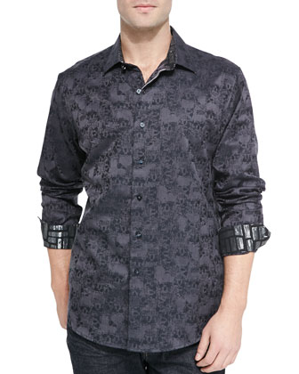 Sunset Cruise Long-Sleeve Shirt, Black