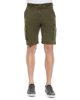 Globetrotter Cargo Shorts, Olive