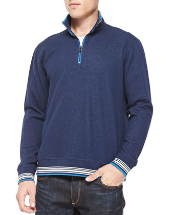 Pipeline Half-Zip Sweater, Navy