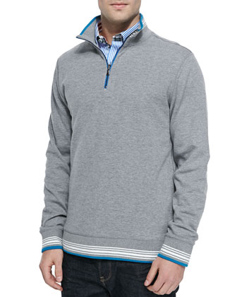 Pipeline Half-Zip Sweater, Gray