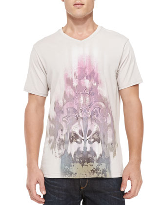 Warrior Printed Tee Shirt, Gray