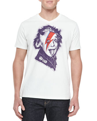 Albert Stardust Graphic Tee Shirt, White