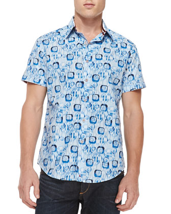 Skiff Printed Short-Sleeve Shirt, Multi