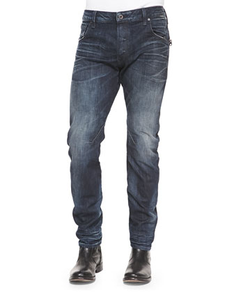Arc 3D Washed Slim Denim Jeans, Dark Blue