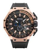 Gran Turismo Chronograph Watch, Black/Rose