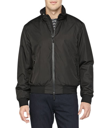 Nylon Blouson Jacket, Black