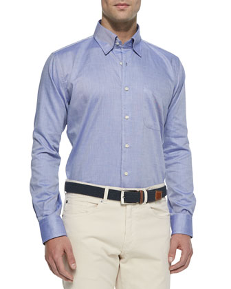 Interlock Quarter-Zip Pullover Sweater, Solid Oxford Dress Shirt & 5-Pocket ...