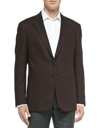 Melange Herringbone Jacket