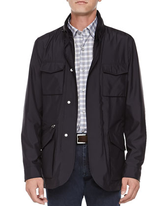 Tech Safari Jacket, Navy