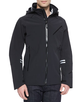 Timber Shell Hooded Jacket, Black