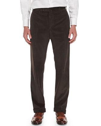 Cotton-Cashmere Brando Corduroy Pants